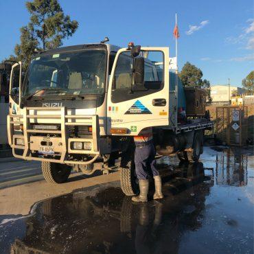 Prestart at MS Yard Wash Truck